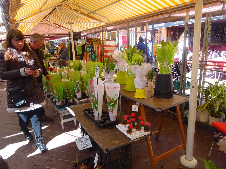 マセナ広場近くの市場です。ついつい花屋さんに目が行ってしまいました。