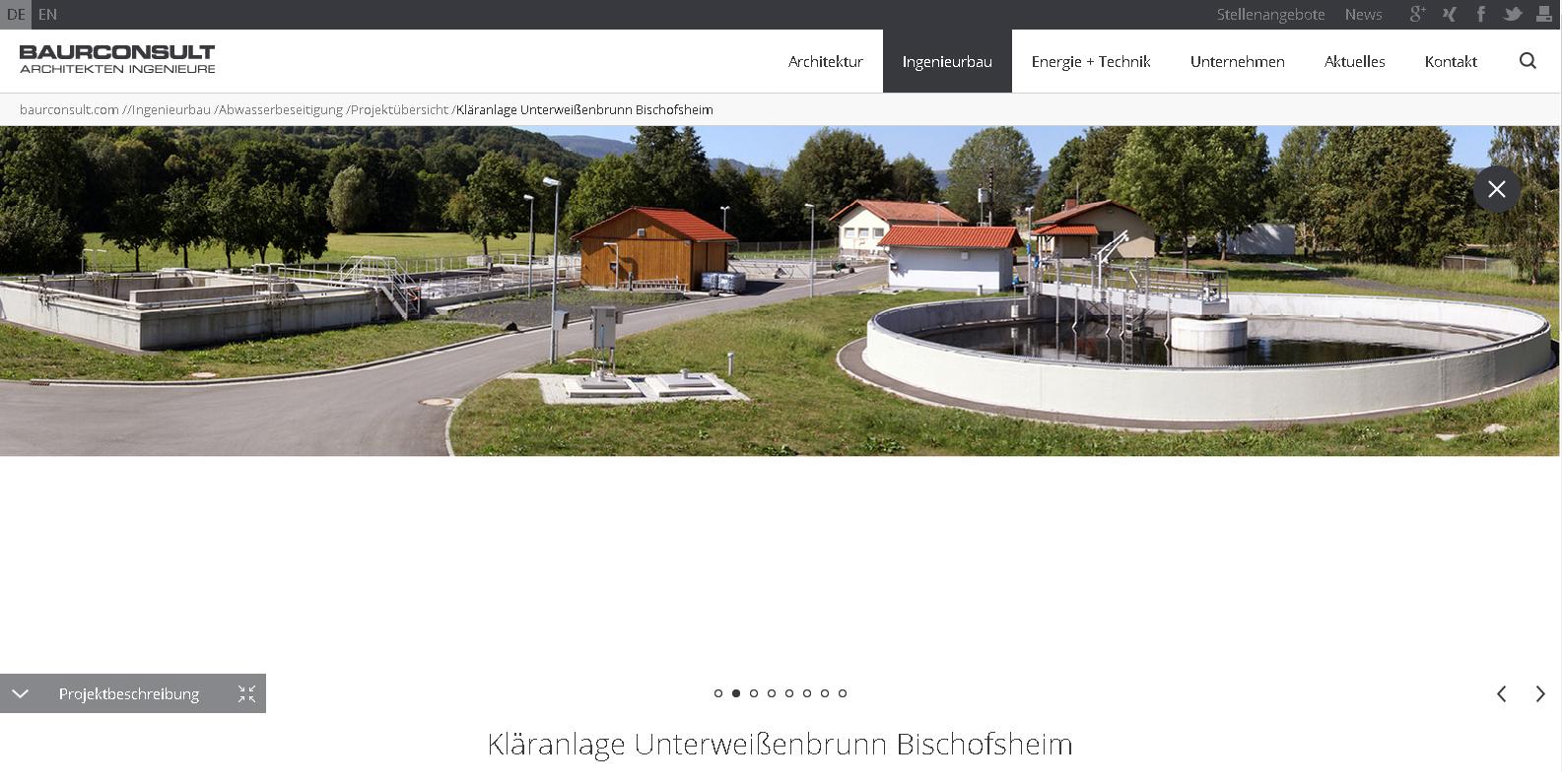 ARCHITEKTEN (Kläranlagen-Fotos für das Planungsbüro Baurconsult)