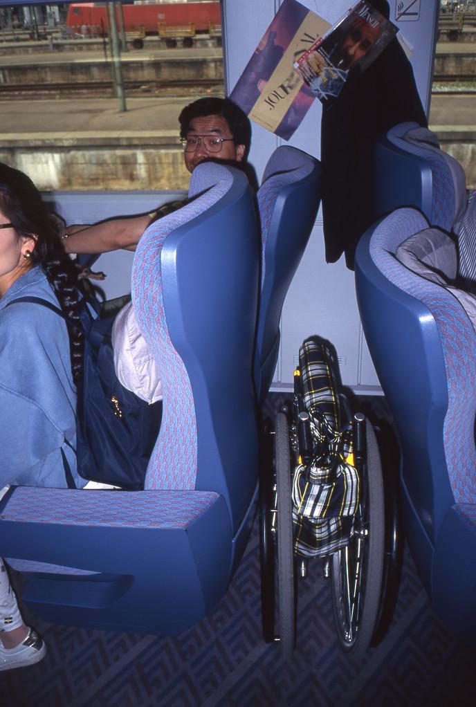 車椅子を置ける場所も・・・
