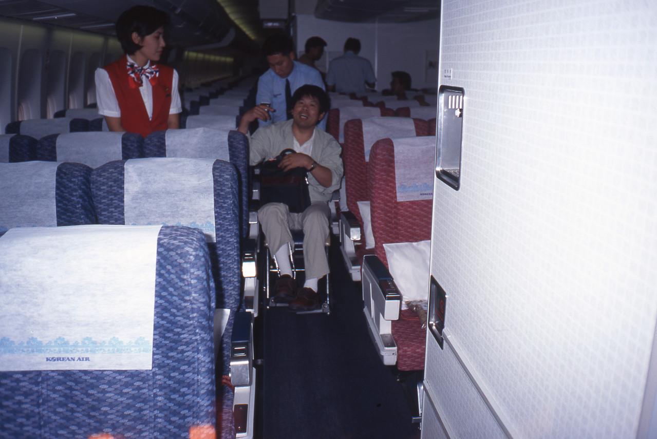 車中の専用車椅子