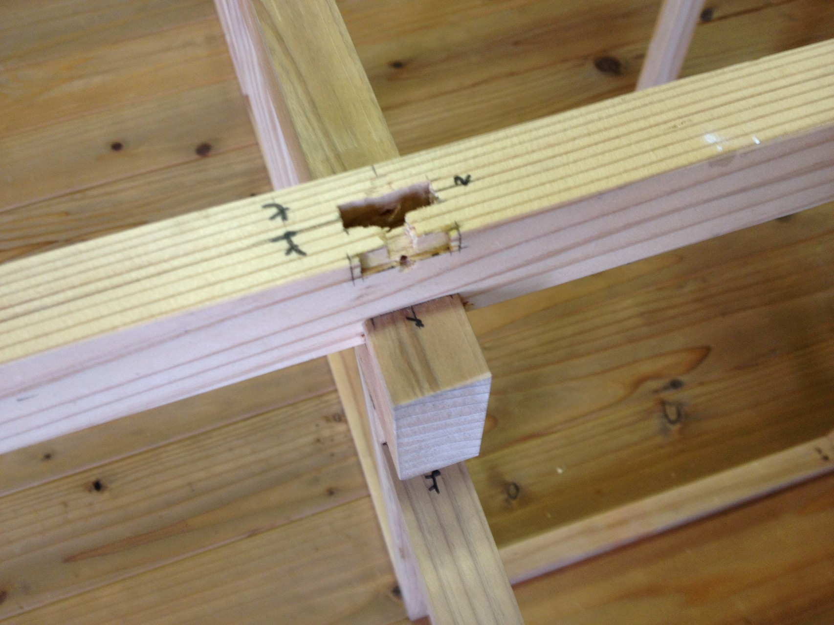 柱、桁小梁の仕口