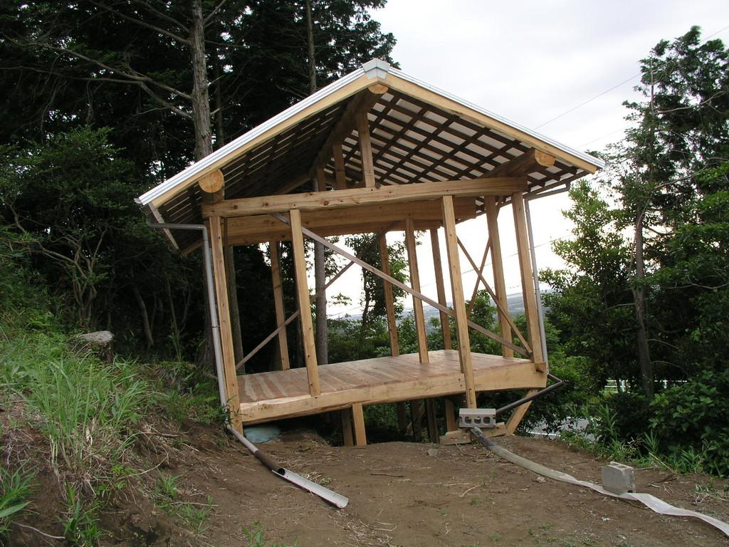 この小屋を建てます
