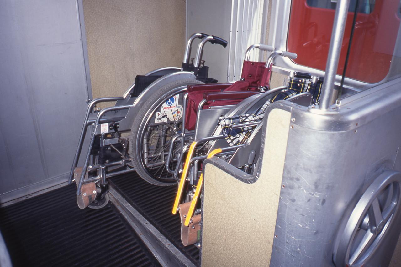 車椅子も指定席に