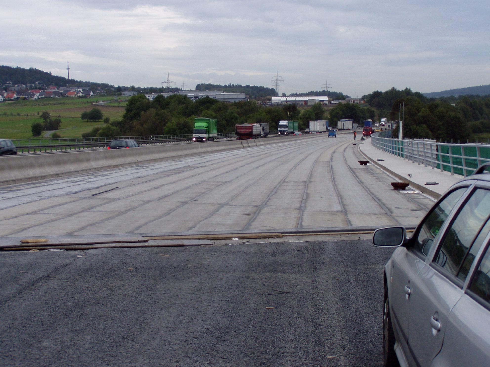 A 45, Talbrücke Edingen