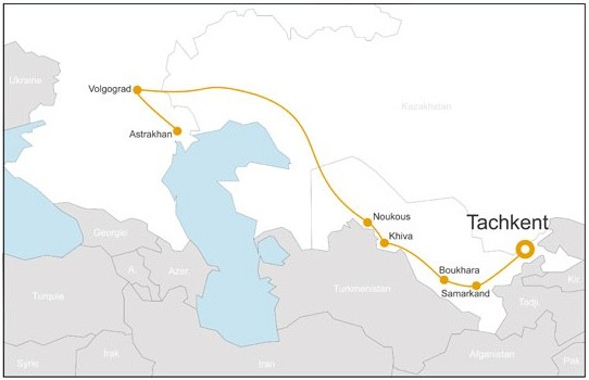 transcaspien et route de la soie