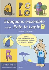 Eduquons ensemble avec Polo le lapin. Couverture fascicule enseignants