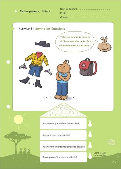 Eduquons ensemble avec Polo le lapin, extrait fascicule 7 (version parents-enfants)