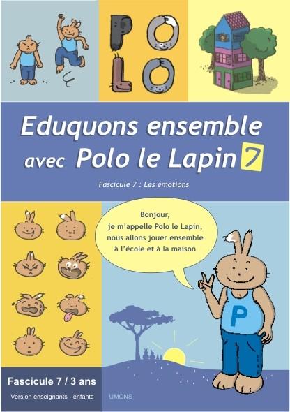 Eduquons ensemble avec Polo le lapin, fascicule 7, couverture farde version enseignants 1ère maternelle