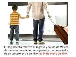Salida de menores de edad de México