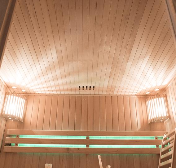 Eclairage par leds des cabines de sauna Holl's