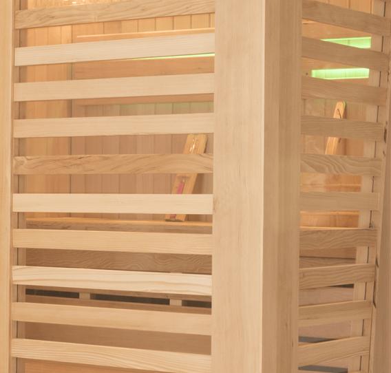 Design et finition des cabines de sauna Holl's