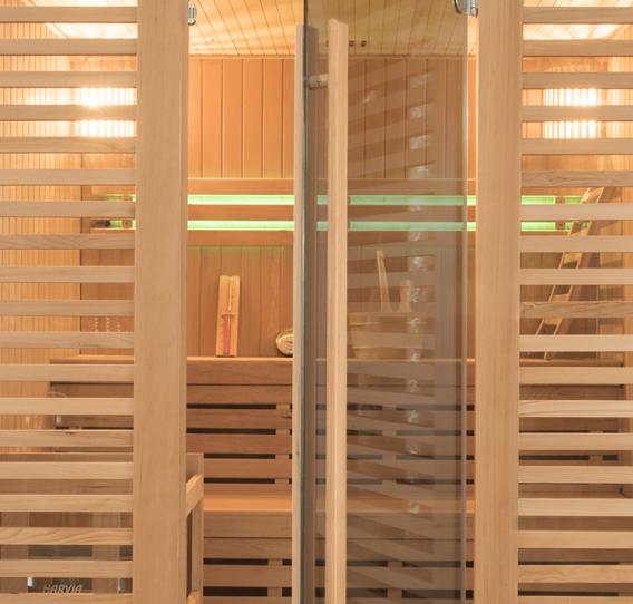 Cabine vitrées des cabines de sauna Holl's
