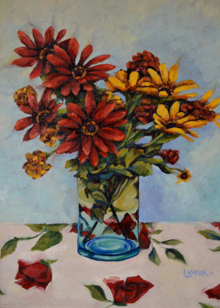 Red and Yellow Flowers, 12x16 private collection