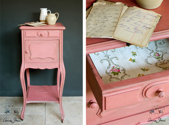kreidefarbe annie sloan chalk paint scandinavian pink wir von nouvelle antique zeigen euch. Black Bedroom Furniture Sets. Home Design Ideas