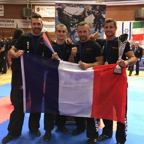 Champion d'Europe Senior de Krav-Maga 2018 : le kmkc3