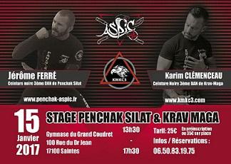 Stage Krav Maga & Penchak Silat à Saintes