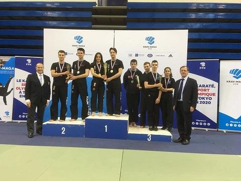 vice champion de france krav maga 2018 espoir mixte