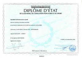Cyrille Mebille diplômé d'état krav maga et karaté