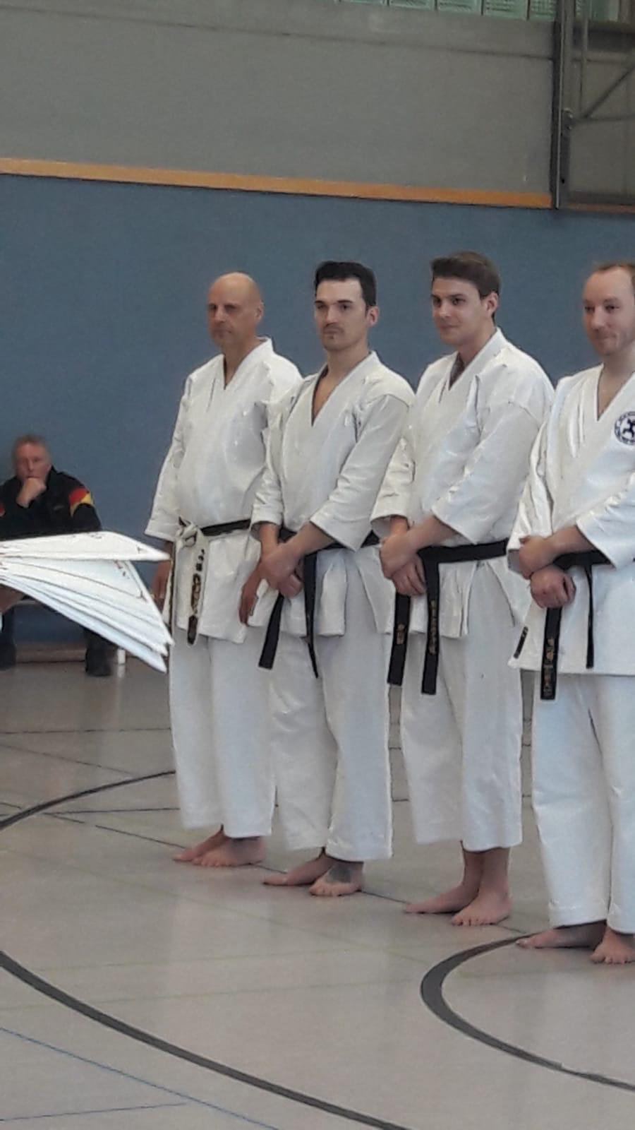 Karate Dan Prüfung von René Roese in Waltrop am 11.November 2019 mit Partner Thomas Skwarr