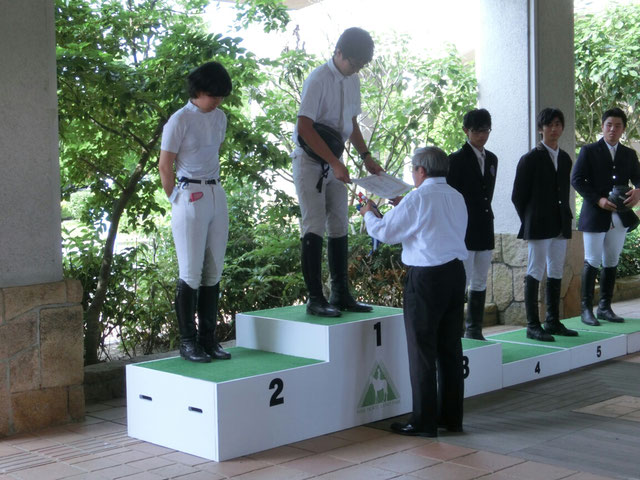 表彰式にて(藤井選手)