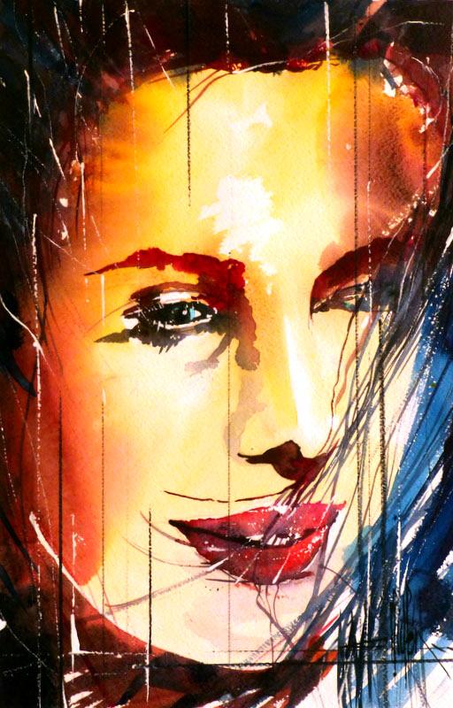 282 Portrait de femme 05 - 2012 - Aquarelle 35.5 x51