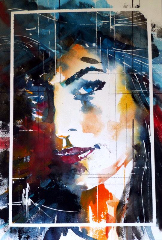 279 Portrait de femme 02 - 2002 - Aquarelle 35.5 x 51