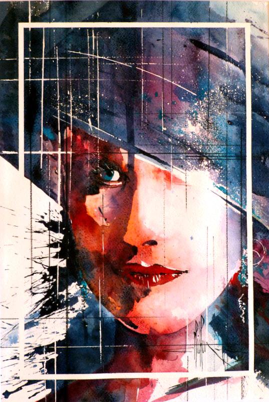 280 Portrait de femme 03 - 2012 - Aquarelle 35.5 x 51