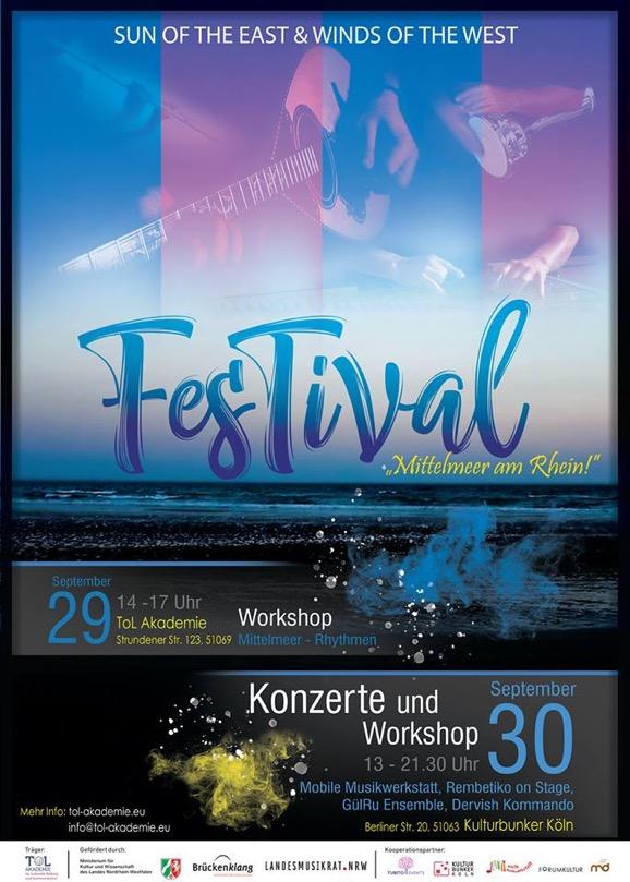 Programmplakat FesTival Mittelmeer am Rhein 29. September 2018