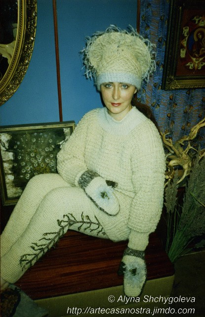 """completto invernale di lana mista (pecora e capra) """"il Bosco""""   Collezione privata"""