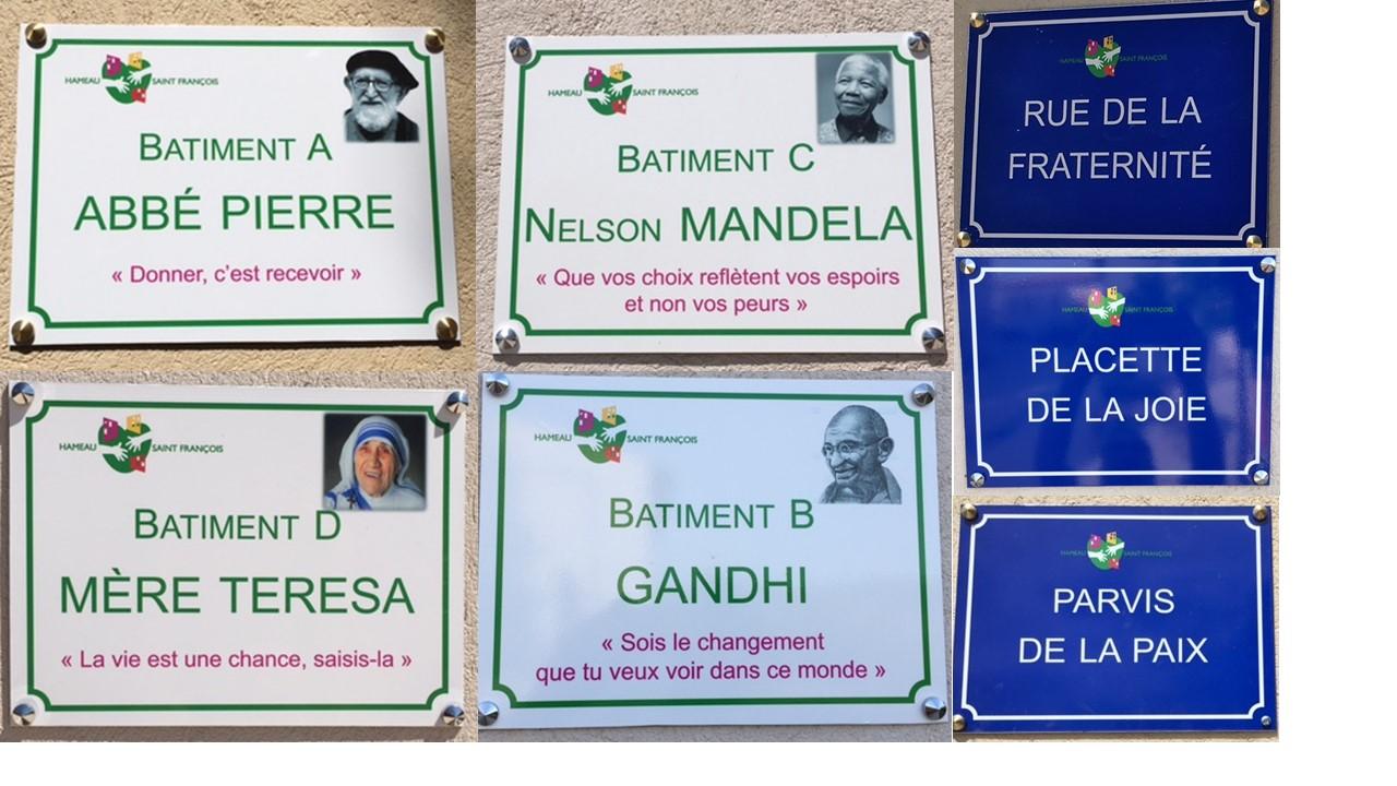 Des noms pour les espaces et bâtiments du Hameau