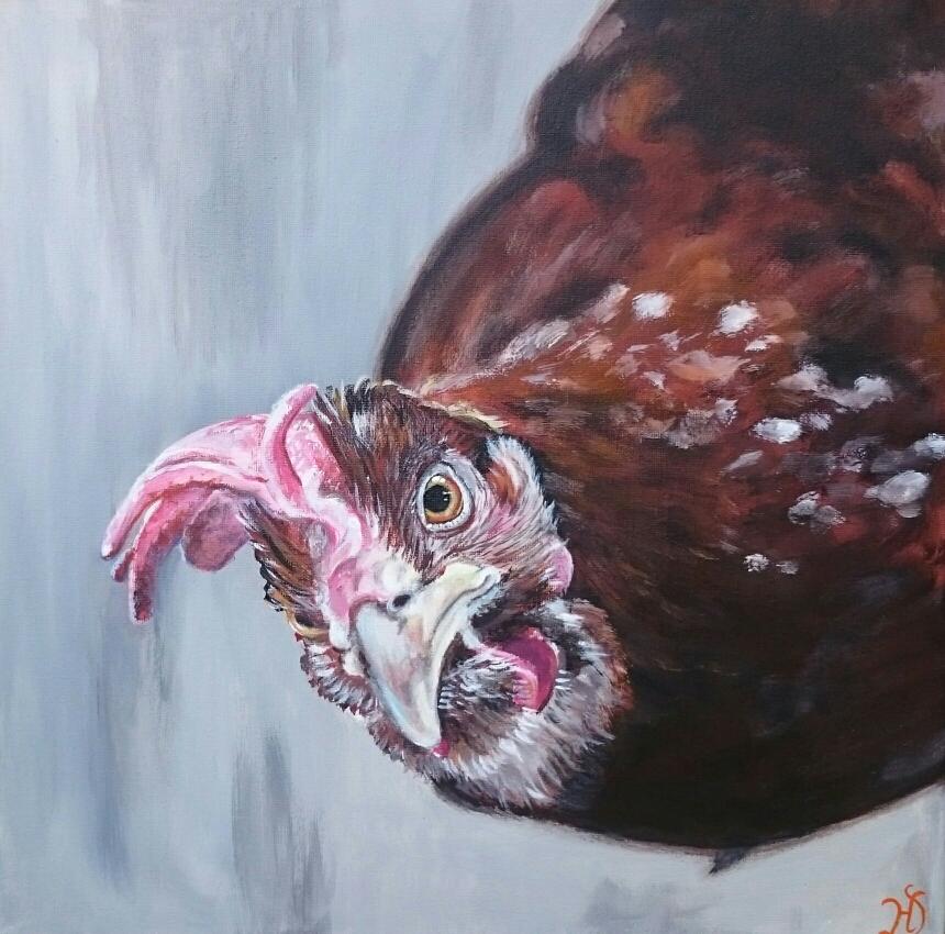 Lotte das Huhn aus Hafencity