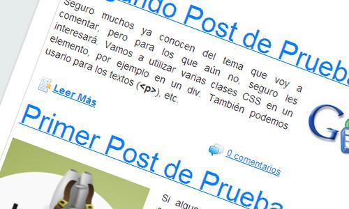 Enlaces del blog personalizado