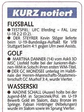 Zeitungsbericht / Krone