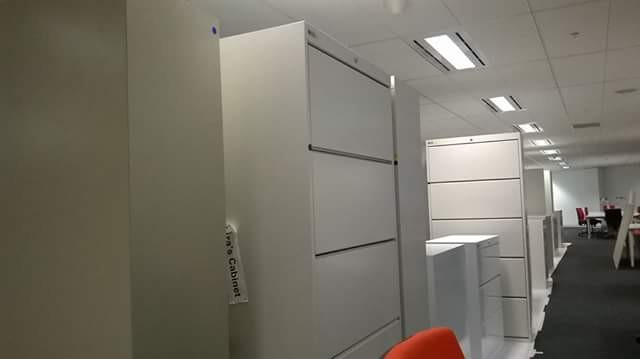 electostatic spray painting filing cabinets