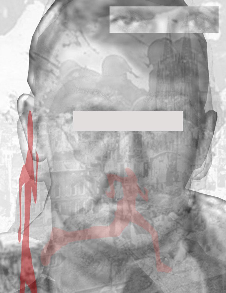 war Austria (bespiegelt), C-print, Digitale Collagen, Spiegelfolie, auf einer Platte fixiert, 21,6 x 28 cm, ICW und Leslie Fry, 2009