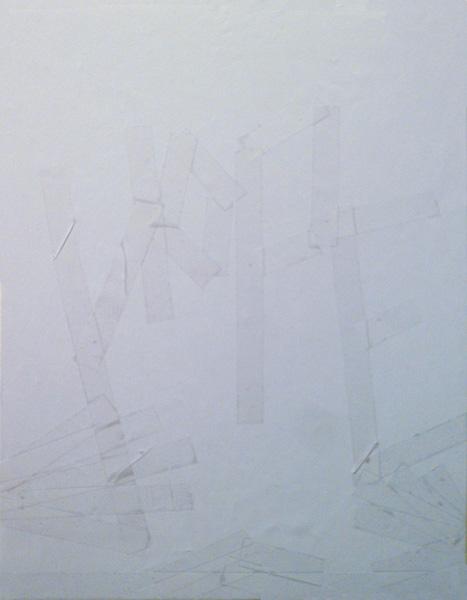 hope – change – communication, Papier, Klebeband, auf einer Platte fixiert, 21,6 x 28 cm, ICW und Leslie Fry 2009