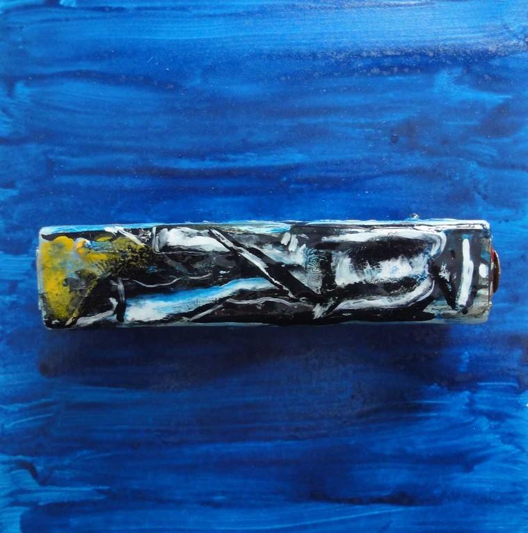 God Box, Serie von 30 Stück, Holz, Spiegel, Metall, Malerei, 2,9 x 13,2 cm, ICW und Carlos del Carmen Vadivieso Chable, 2008