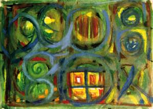 """becoming intimate, die Ausstellung - Greta Znojemsky """"Fenster in einer Lehmhütte"""""""