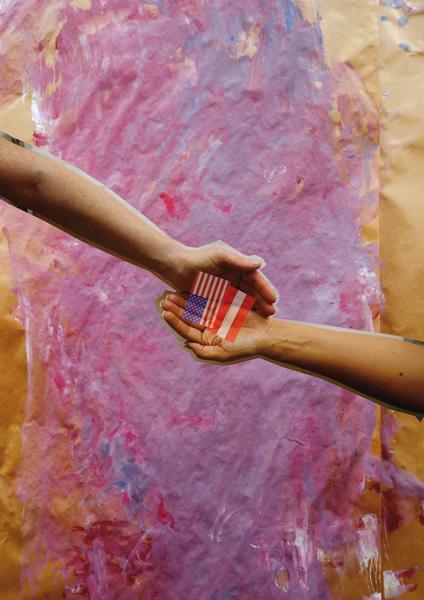 Souvenir, Fotografie, 21,6 x 28 cm, eine etwas andere Spendenaktion in USA, ICW und Leslie Fry 2009