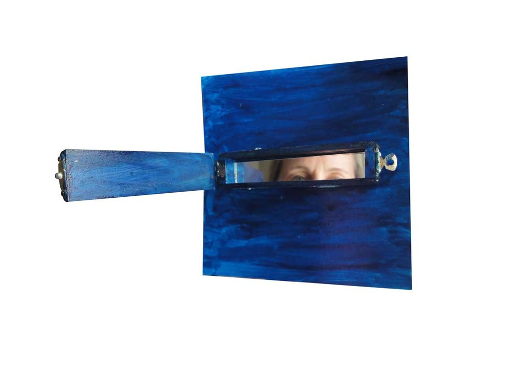 God Box, series of 30, mirror, woodbox, metal, paint, 1,14 x 5,2 in, ICW and Carlos del Carmen  Vadivieso Chable, 2008