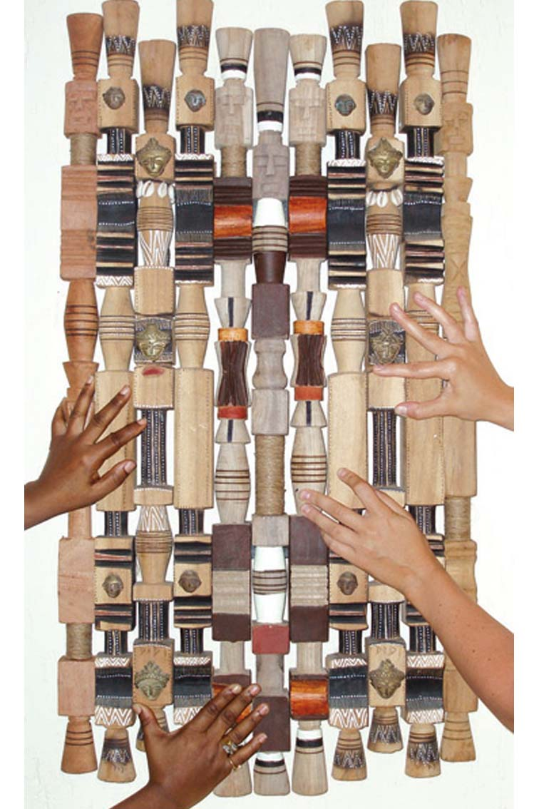 staffs of office, C-print on aluminium under plexy, 22 x 37.4 in, ICW and Ndidi Dike, 2006
