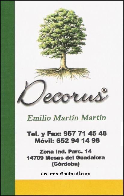"""""""DECORUS"""" - DECORACIÓN RÚSTICA Y MOBILIARIO DE JARDÍN."""