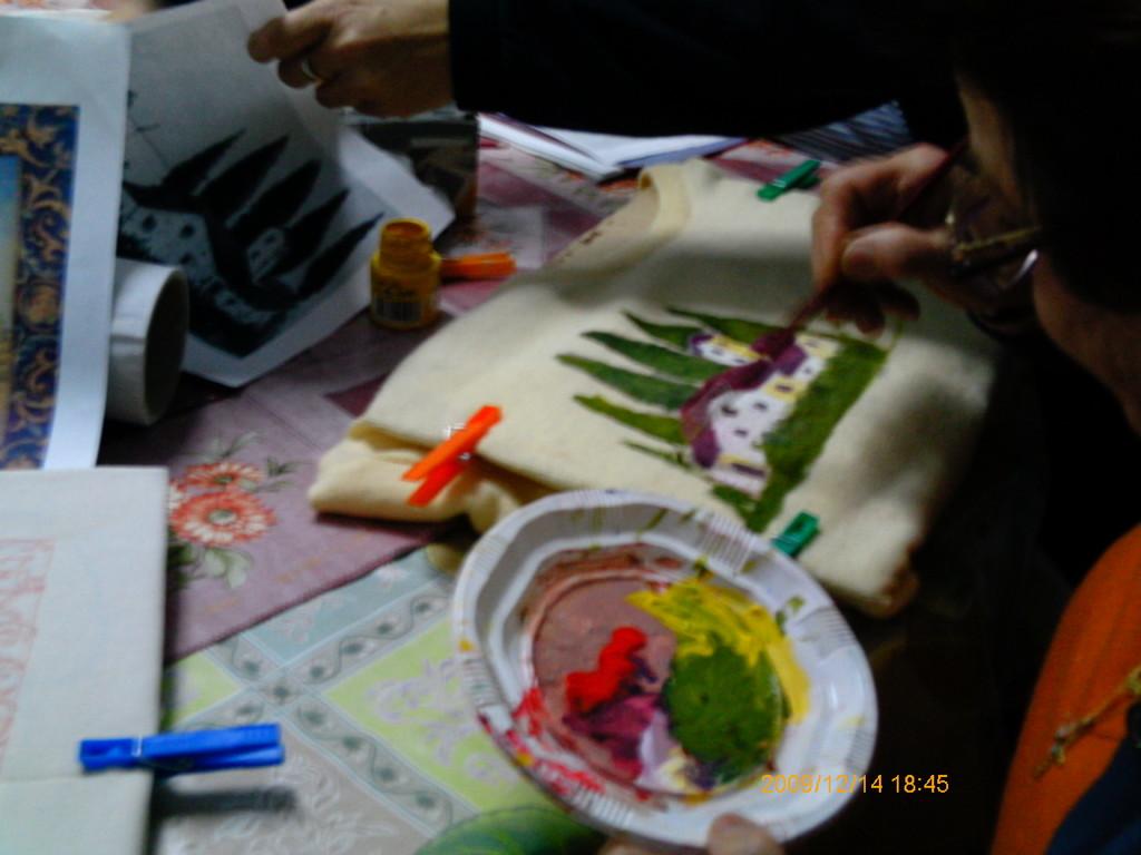 Curso de Pintura de Camisetas, Cojines, Tapetes, Manteles y Tapices