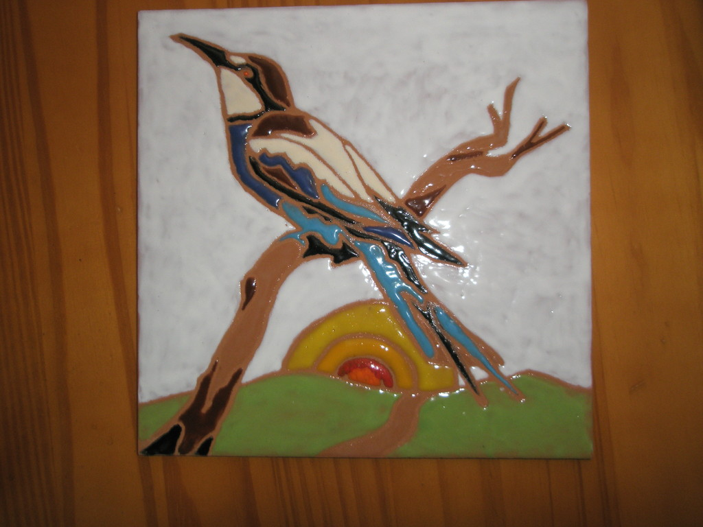 Loseta pintada y esmaltada