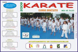 Cartel del Curso Gratuito de Kárate 2009