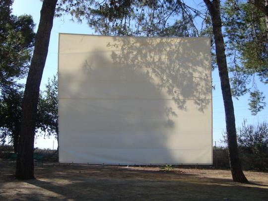 """Pantalla de Lona para proyectar el """"Cine de Verano"""""""