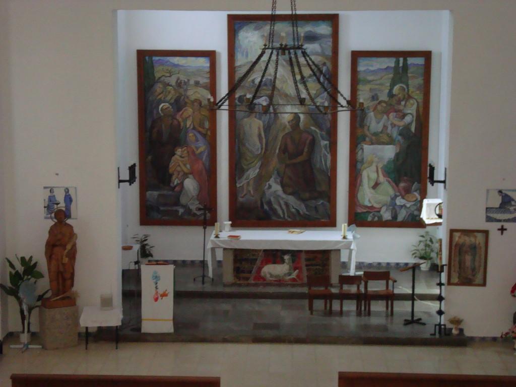 Altar principal de la Iglesia Parroquial de San Isidro Labrador