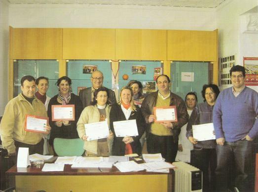 Entrega de Diplomas I y II Cursos de Informática en Mesas del Guadalora
