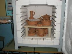 Interior del Horno de Cocción para Cerámica