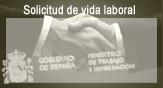 """Haz """"clic"""" en ésta imagen para tramitar Online la """"Solicitud de Informe de Vida Laboral""""."""